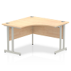 Impulse 1200 Corner Desk with Cantilever Leg Maple