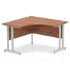 Impulse 1200 Corner Desk with Cantilever Leg Walnut