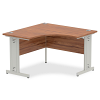 Impulse 1200 Corner Desk with Cable Managed Leg Walnut