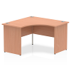 Impulse 1200 Corner with Panel Leg Beech