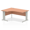 Impulse 1600 Left Hand Crescent Desk Beech