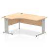 Impulse 1600 Left Hand Crescent Desk Maple