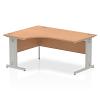 Impulse 1600 Left Hand Crescent Desk Oak