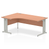 Impulse 1800 Left Hand Crescent Desk Beech
