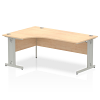 Impulse 1800 Left Hand Crescent Desk Maple