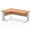 Impulse 1800 Left Hand Crescent Desk Oak
