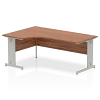 Impulse 1800 Left Hand Crescent Desk Walnut