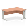 Impulse 1600 Right Hand Crescent Desk Beech