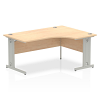 Impulse 1600 Right Hand Crescent Desk Maple