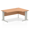 Impulse 1600 Right Hand Crescent Desk Oak