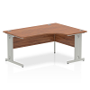 Impulse 1600 Right Hand Crescent Desk Walnut