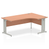 Impulse 1800 Right Hand Crescent Desk Beech