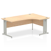 Impulse 1800 Right Hand Crescent Desk Maple