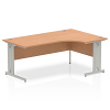 Impulse 1800 Right Hand Crescent Desk Oak
