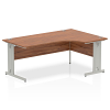 Impulse 1800 Right Hand Crescent Desk Walnut