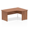 Impulse 1600 Right Hand Crescent with Panel Leg Walnut