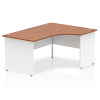 Impulse Panel End 1600 Right Hand Crescent Desk Walnut