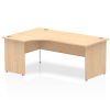 Impulse 1800 Left Hand Crescent Desk with Panel Leg Maple