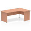 Impulse 1800 Right Hand Crescent Desk with Panel Leg Beech