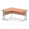 Impulse 1600 Left Hand Crescent Desk with Cantilever Leg Beech
