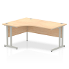 Impulse 1600 Left Hand Crescent Desk with Cantilever Leg Maple