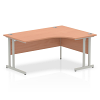 Impulse 1600 Right Hand Crescent Desk with Cantilever Leg Beech
