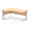 Impulse 1800 Left Hand Crescent Desk with Cantilever Leg Maple
