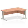 Impulse 1800 Right Hand Crescent Desk with Cantilever Leg Beech