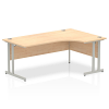 Impulse 1800 Right Hand Crescent Desk with Cantilever Leg Maple