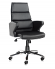 Milot Executive Leather Faced Chair - Black