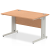 Impulse Cable Managed 1200 Rectangle Desk Oak