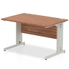 Impulse Cable Managed 1200 Rectangle Desk Walnut