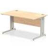 Impulse Cable Managed 1400 Rectangle Desk Maple