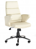 Milot Executive Leather Faced Chair - Cream