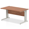 Impulse Cable Managed 1400 Rectangle Desk Walnut