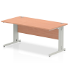 Impulse Cable Managed 1600 Rectangle Desk Beech