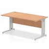 Impulse Cable Managed 1600 Rectangle Desk Oak
