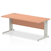 Impulse Cable Managed 1800 Rectangle Desk Beech