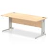 Impulse Cable Managed 1800 Rectangle Desk Maple