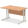 Impulse Cantilever 1200 Rectangle Desk Oak