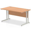 Impulse Cantilever 1400 Rectangle Desk Oak