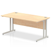 Impulse Cantilever 1600 Rectangle Desk Maple
