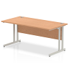 Impulse Cantilever 1600 Rectangle Desk Oak