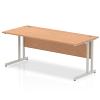 Impulse Cantilever 1800 Rectangle Desk Oak