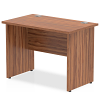 Impulse Panel End 1000 Return Desk Walnut