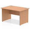 Impulse Panel End 1200 Rectangle Desk Oak