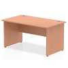 Impulse Panel End 1400 Rectangle Desk Beech