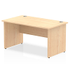 Impulse Panel End 1400 Rectangle Desk Maple