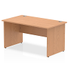 Impulse Panel End 1400 Rectangle Desk Oak