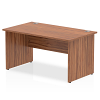 Impulse Panel End 1400 Rectangle Desk Walnut
